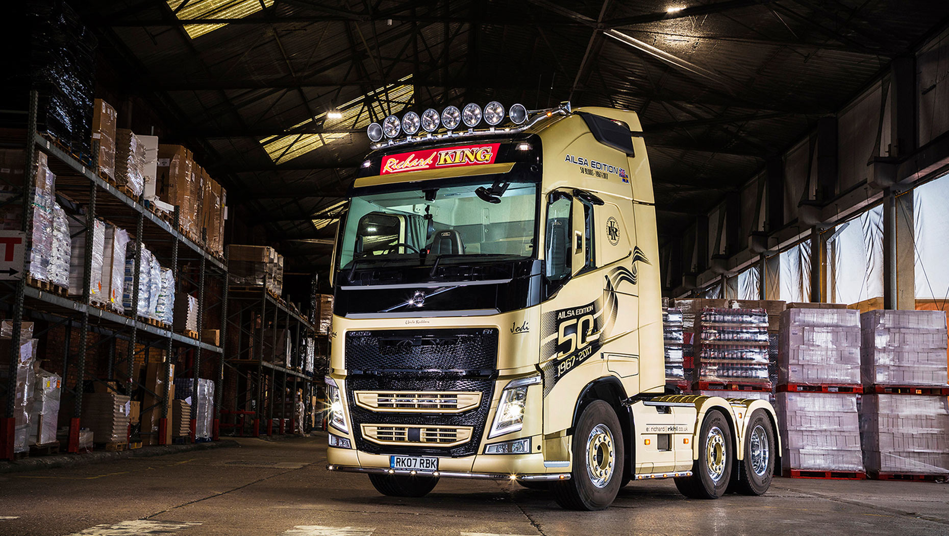 New Ailsa Edition FH tractor unit - one of only 50 special trucks made available as part of Volvo Trucks 50th Anniversary