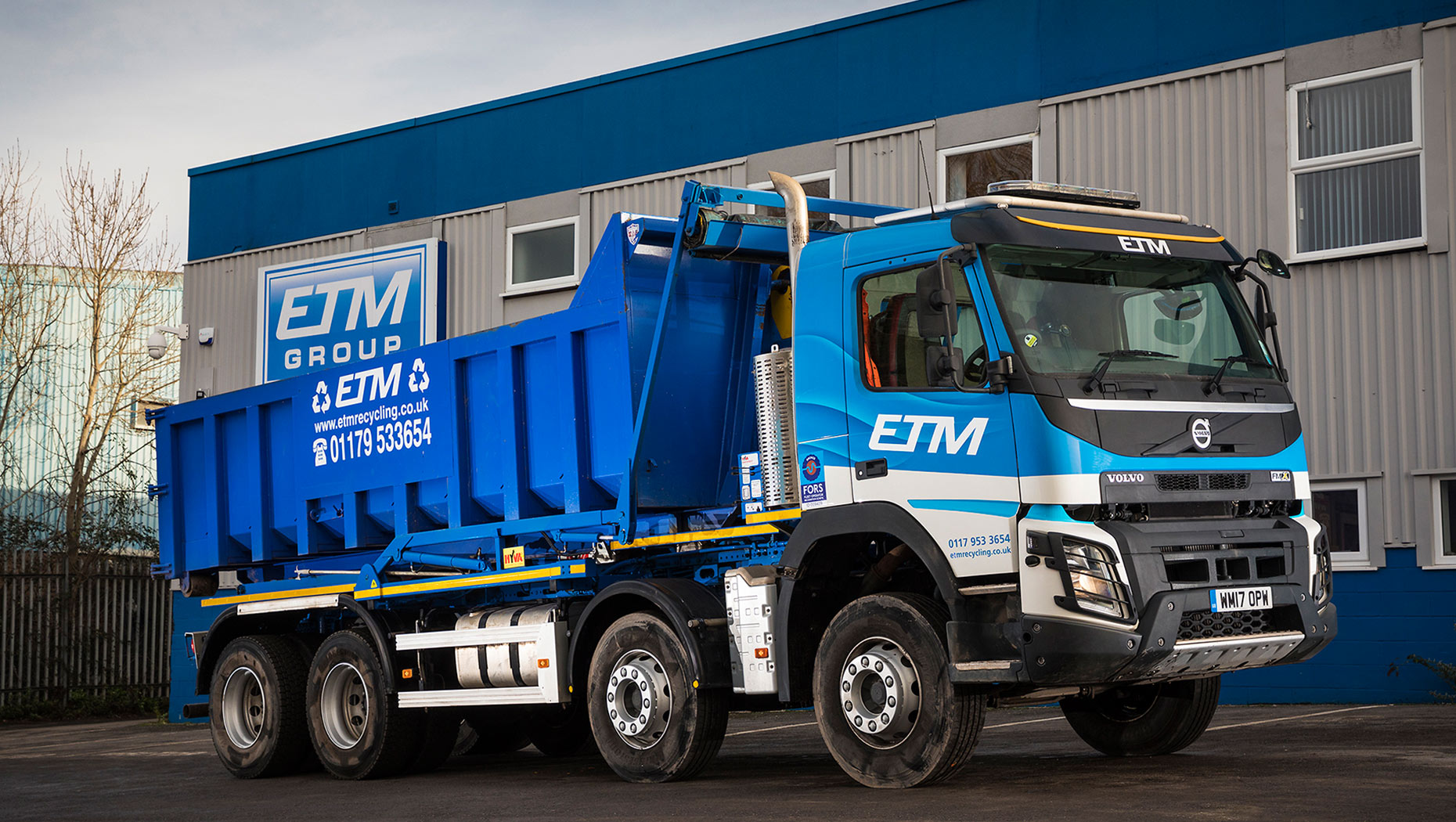 Volvo Trucks range brings change at ETM recycling