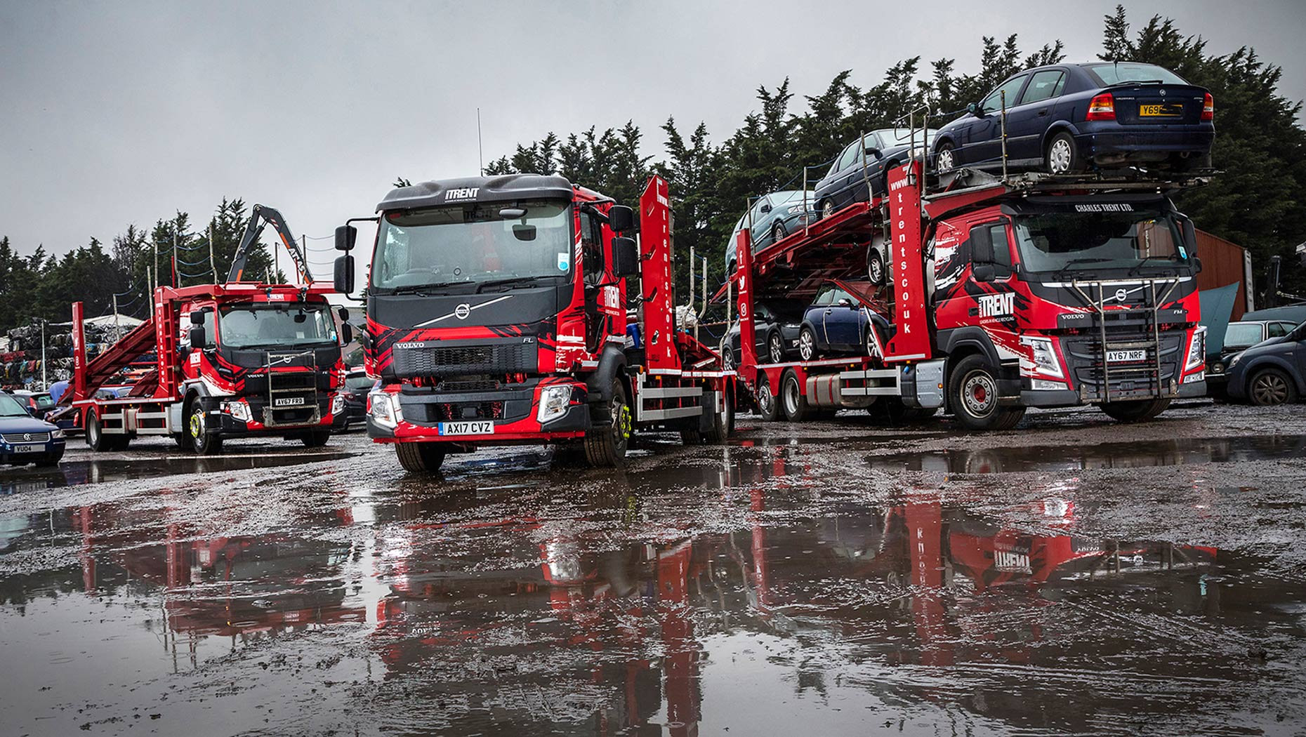 Charles Trent Ltd, has taken delivery of six new Volvo trucks