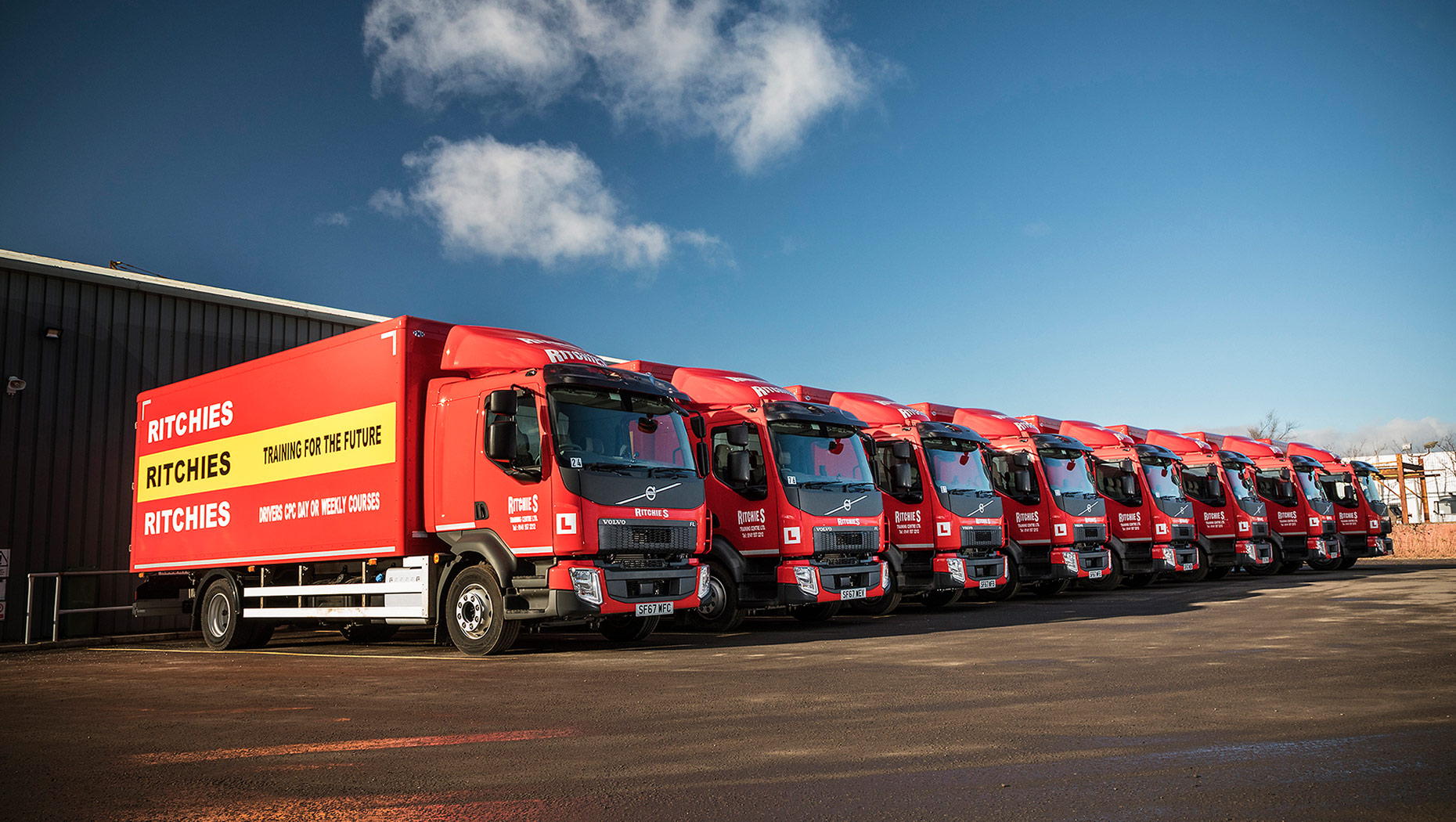 Ritchies training centre stays on course with eight new Volvo FL Rigids