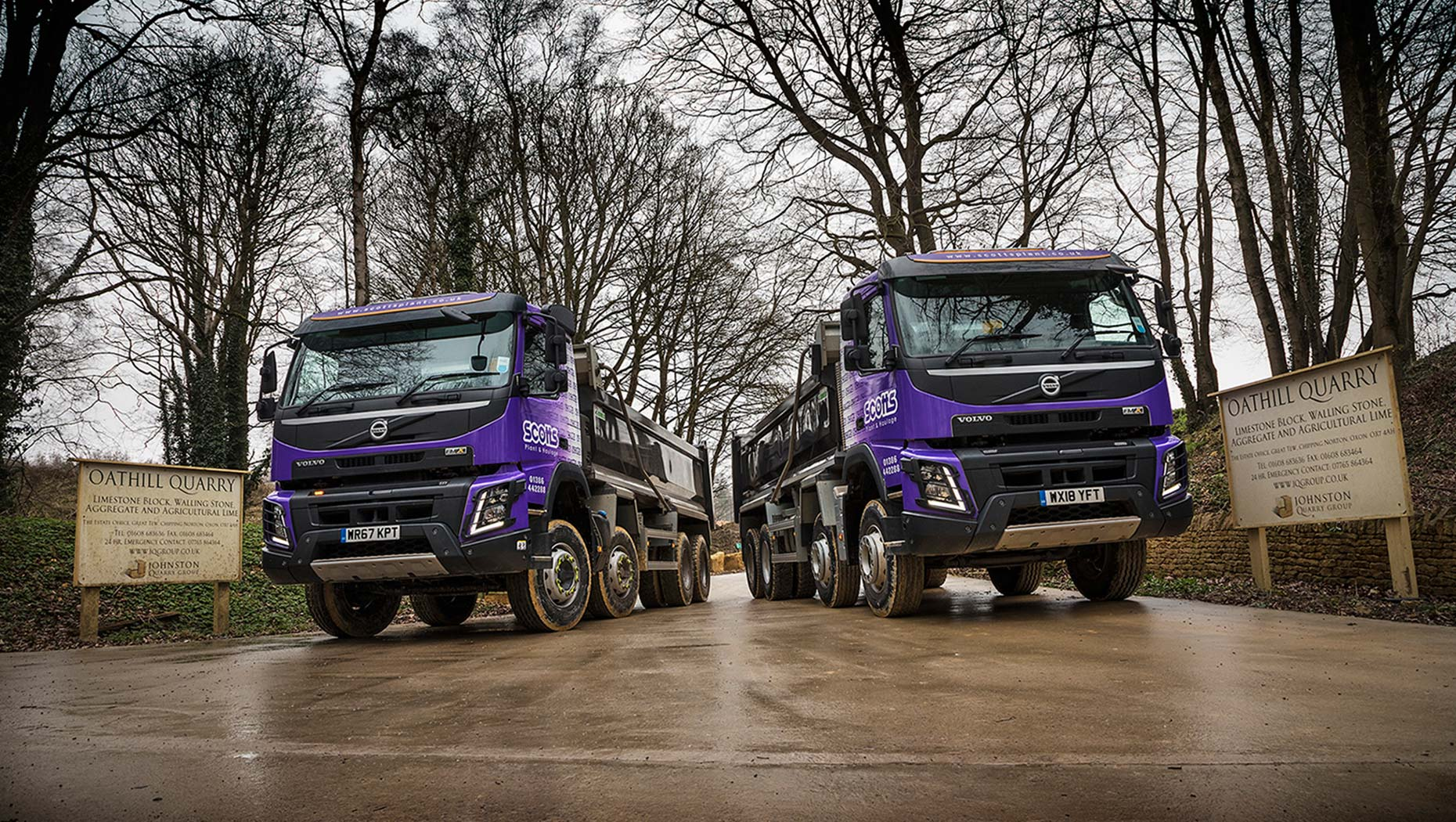 Volvo FMX-420 8x4 rigid tippers