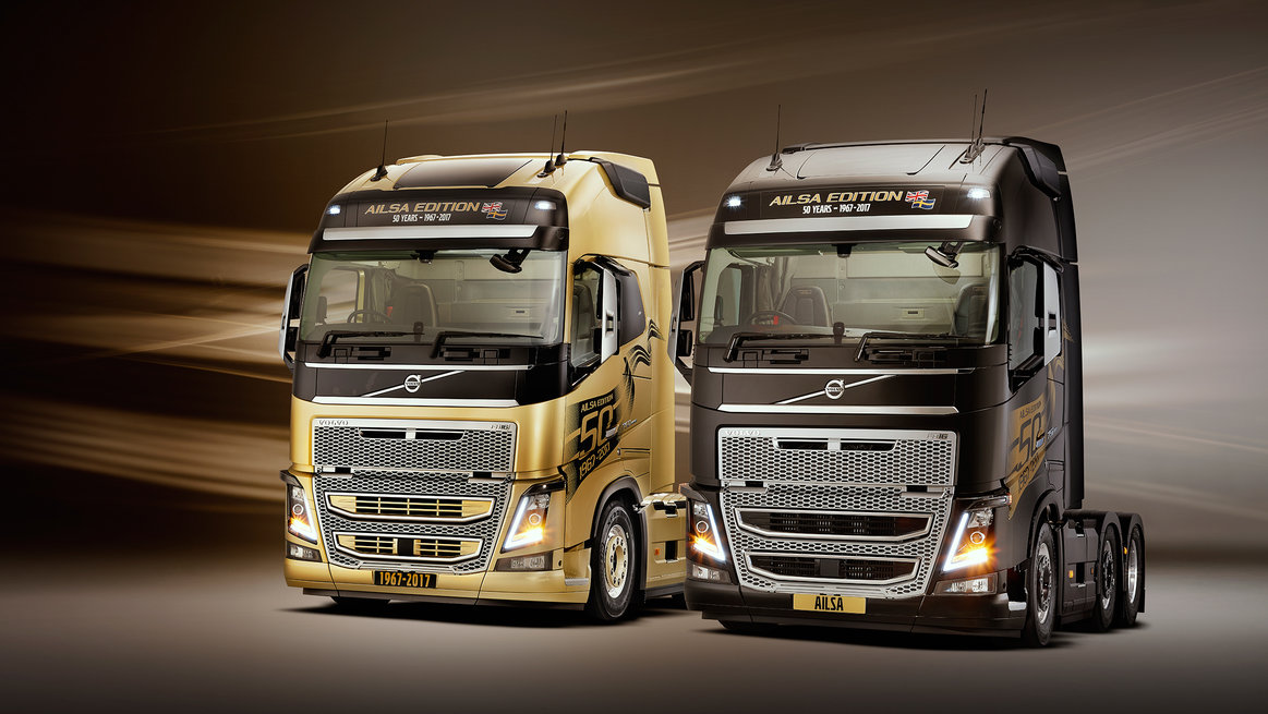 Gold and Black Ailsa Trucks