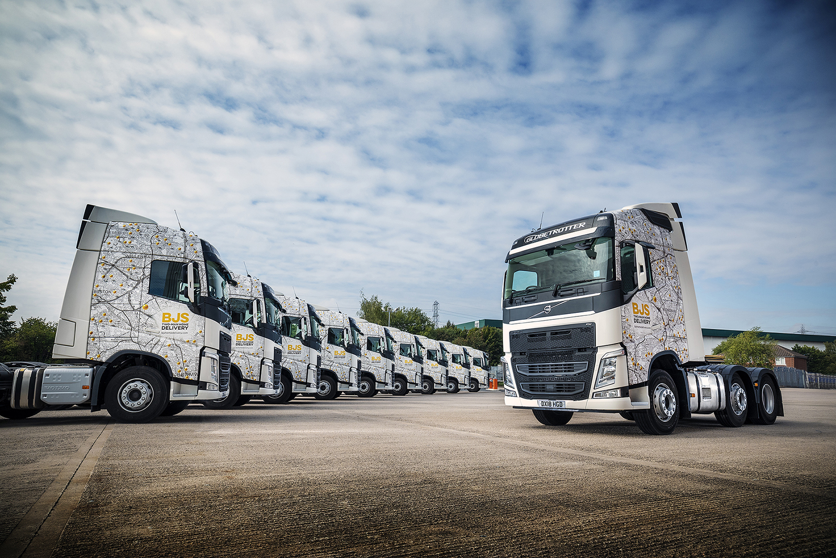 Ten New Volvo FH Tractor Units Put BJS Home Delivery on the Map