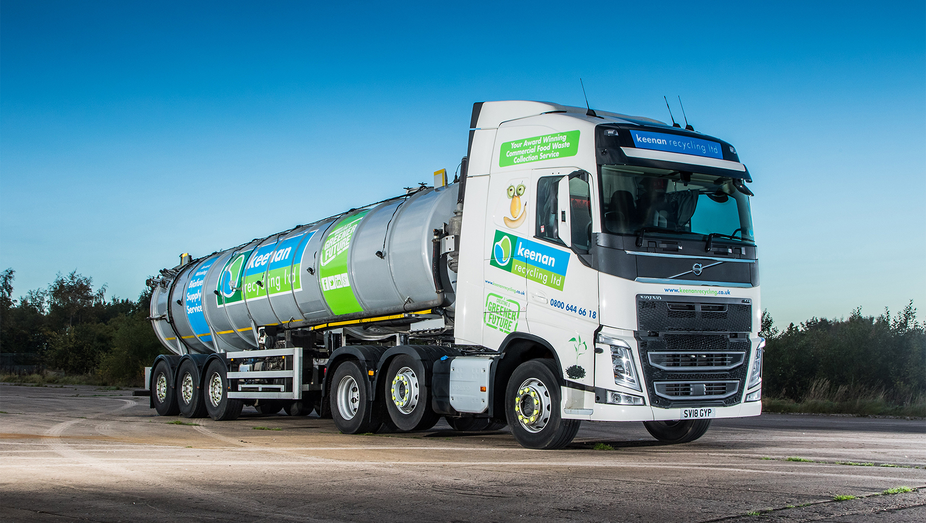 A new Volvo tractor unit fuels growth at Keenan Recycling