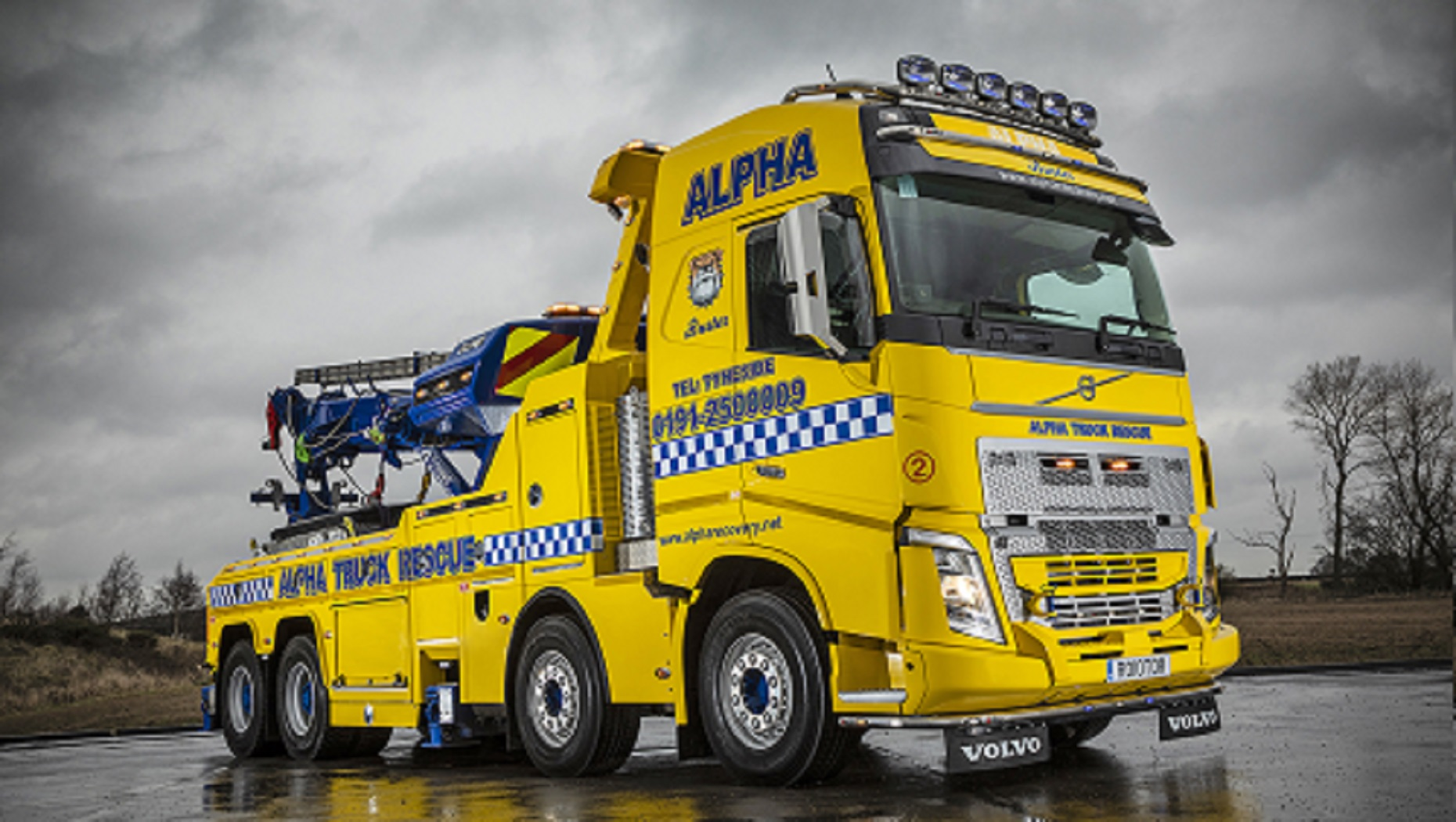 Alpha Recovery's New Volvo FH Rigid is the 'Beast From the North East'