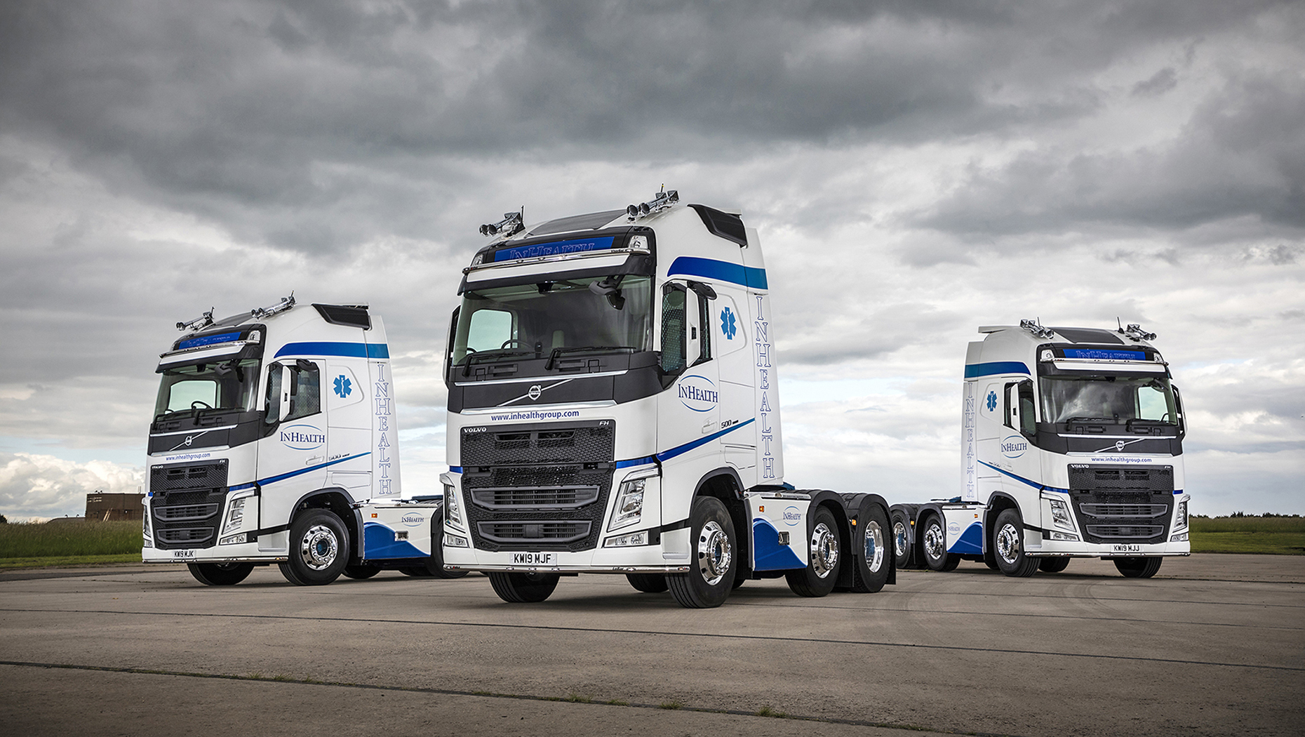 InHealth, the UK's leading provider of mobile medical diagnostic services, updates its fleet with three new Volvo FH tractor units
