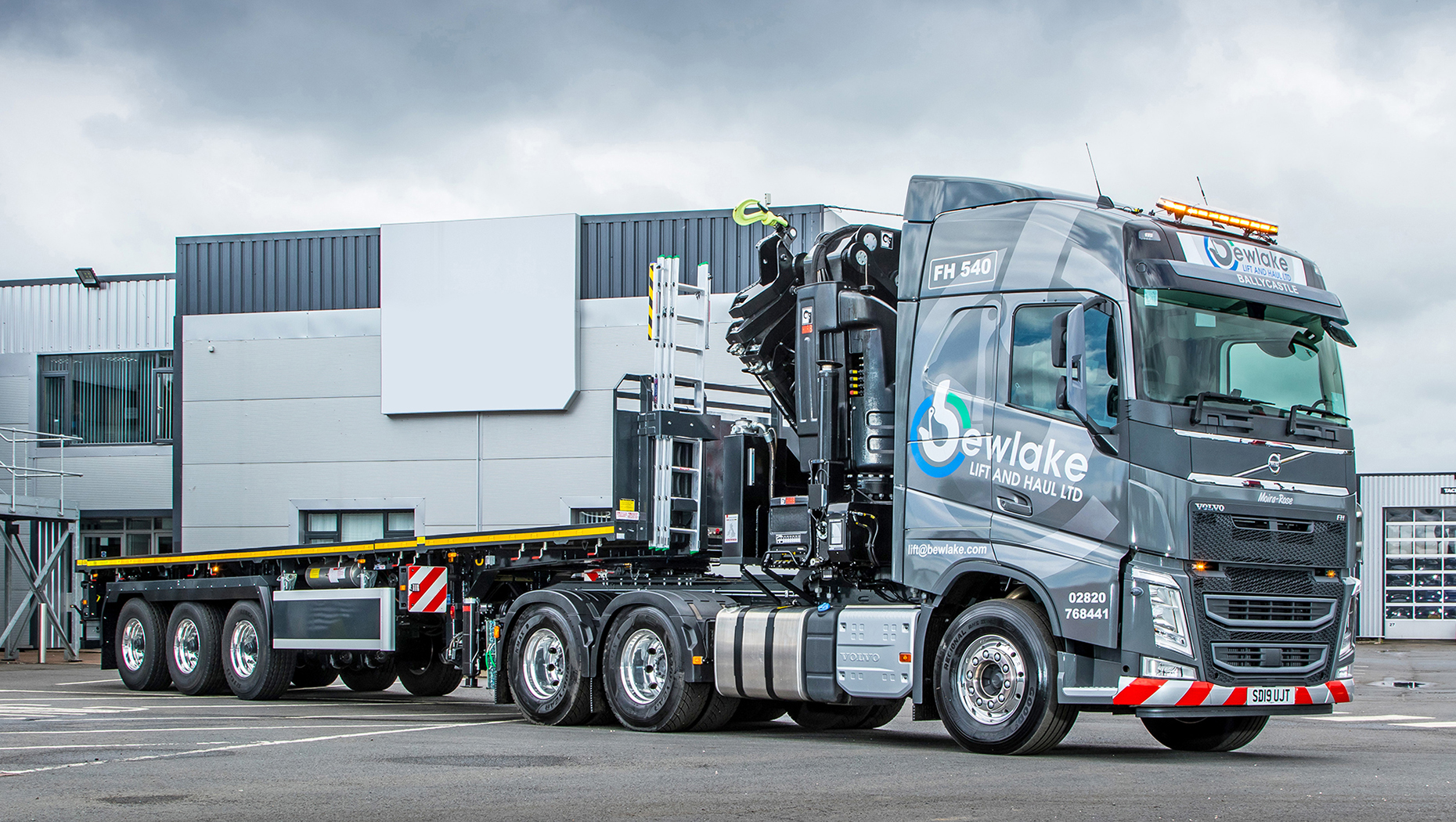 A new Volvo FH helps launch a new business at Bewlake Lift and Haul Ltd