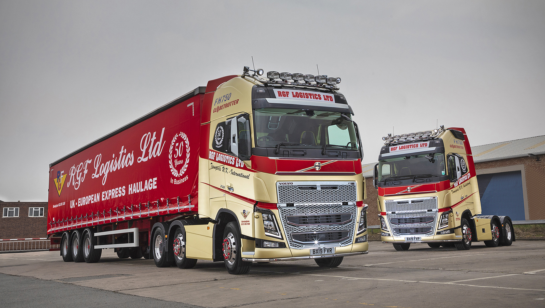Two new Volvo FH16 750 tractor units create a golden opportunity for RGF Logistics