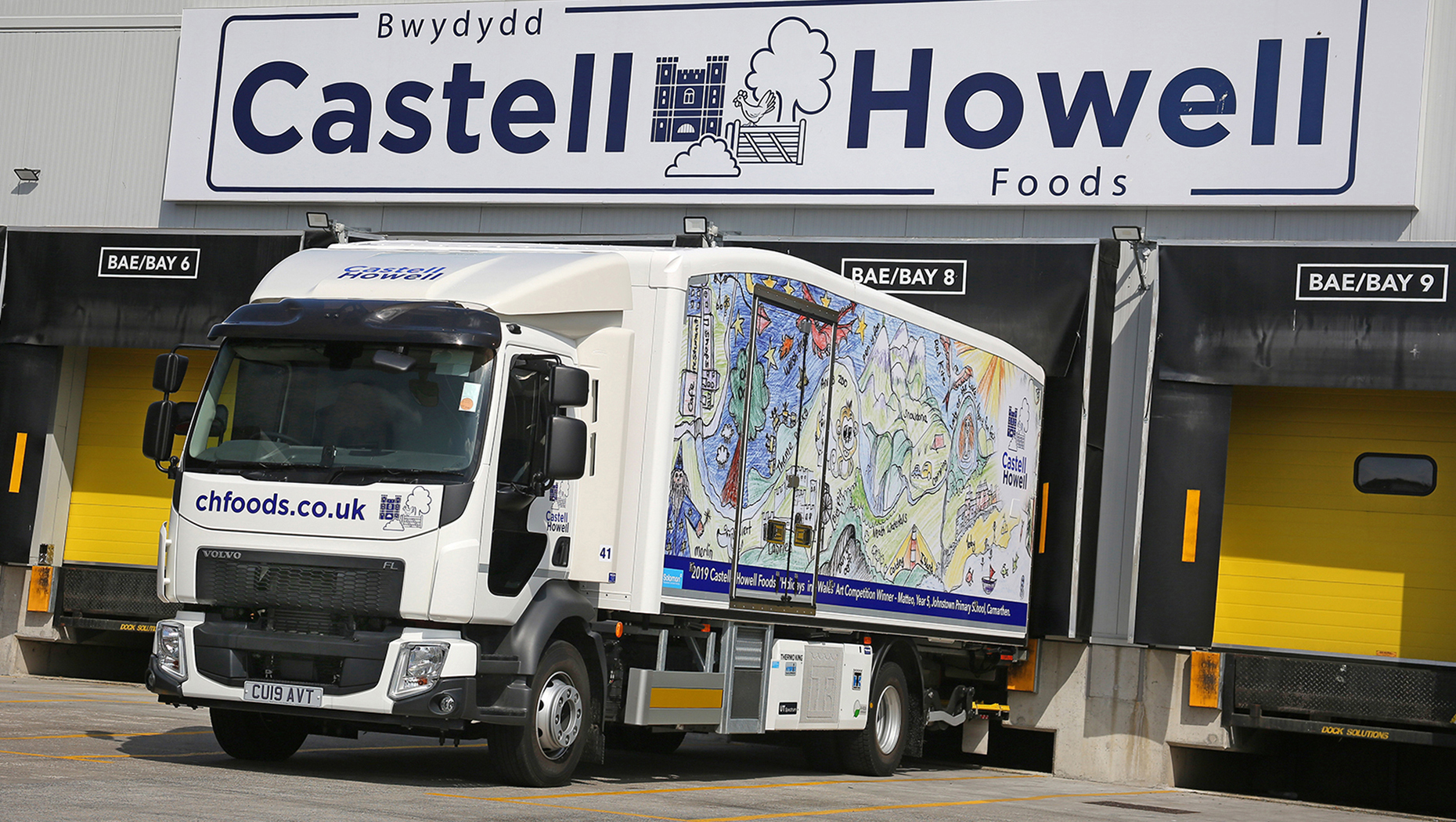 Castell Howell Foods Ltd. goes back to school for a specially designed livery on one of two new Volvo FL rigids