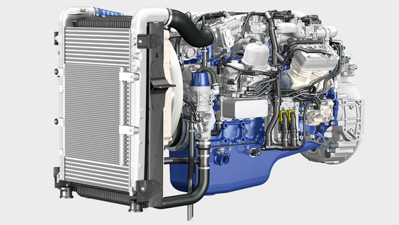 The Volvo FE is powered by te D8K engine.