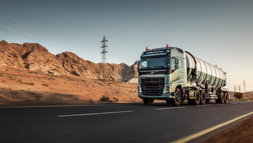 Volvo FH in dry landscape