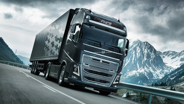 Volvo FH16 with I-Shift Dual Clutch on the road