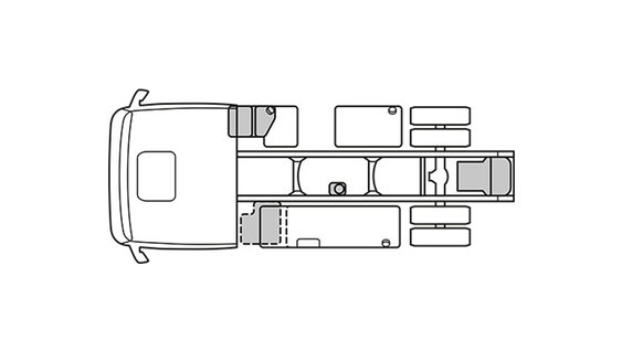 Sketched chassis layout
