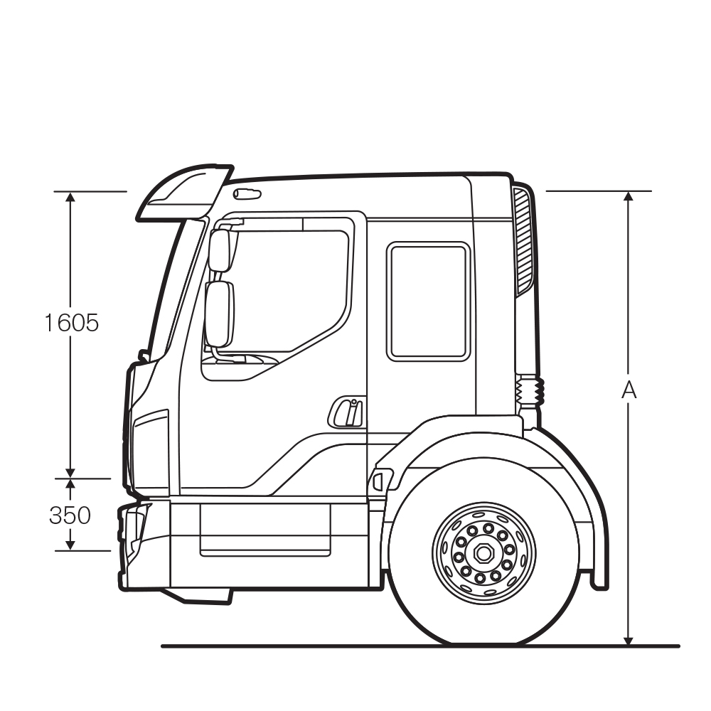 Volvo FE Low entry cab with extra-low instep